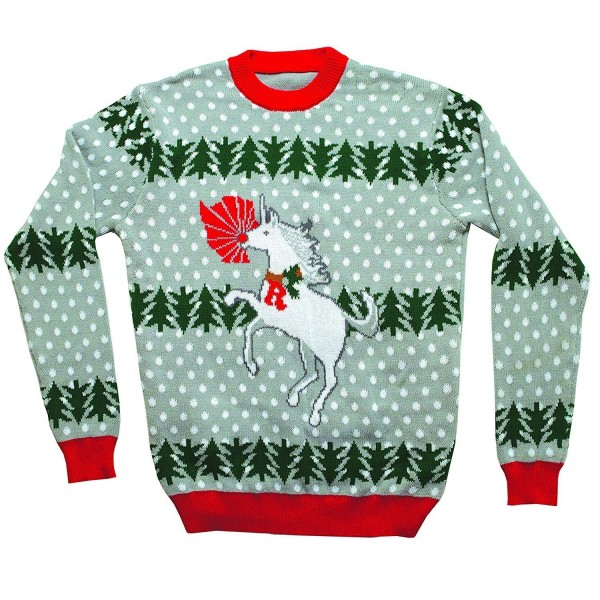 Unicorn Rudolph Christmas Sweater Large