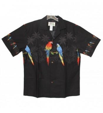 Aloha Parrots Hawaiian Shirt BLACK