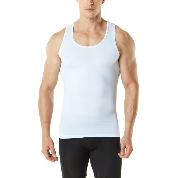 TM MUN04 WHT_X Large Tesla Sleeveless Compression Baselayer