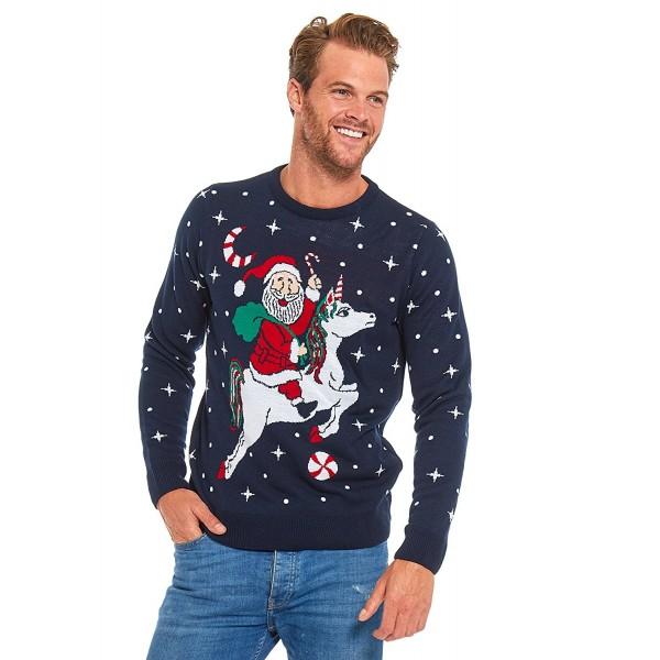 Christmas Sweater Ladies Santa Unicorn XX
