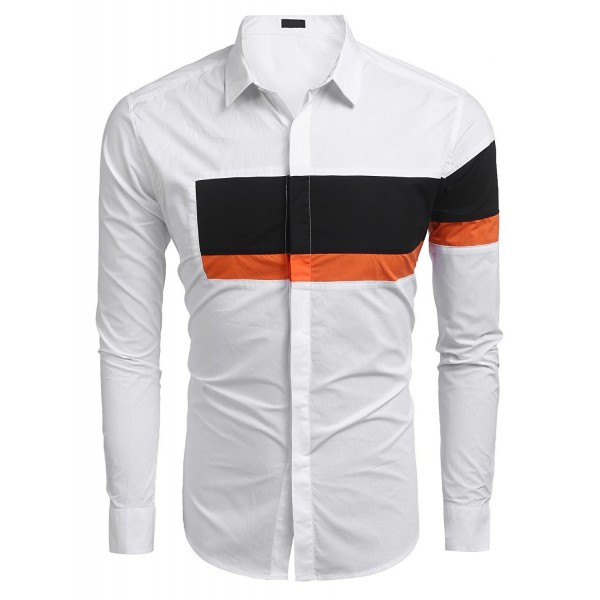 BULGES Casual Sleeve Contrast Patchwork