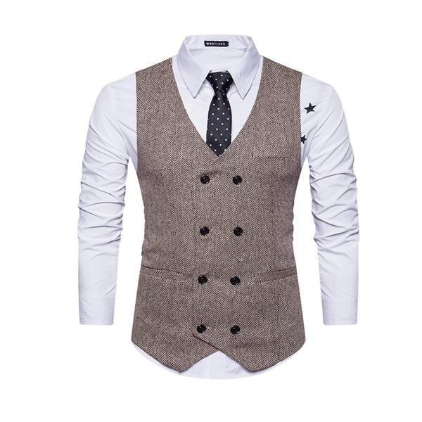 Pumpkin Brother Business Breasted Waistcoat