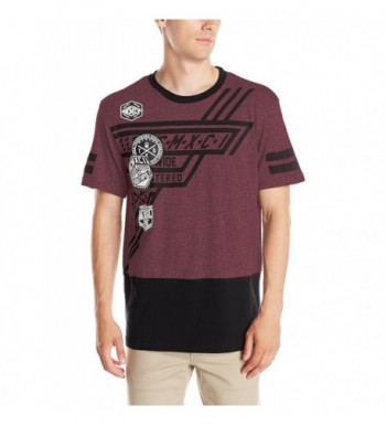 Southpole Sleeve Marled Graphics Burgundy