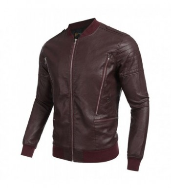 Cheap Designer Men's Faux Leather Jackets Online Sale