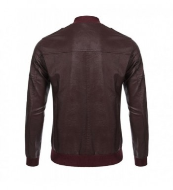 Discount Real Men's Faux Leather Coats Outlet