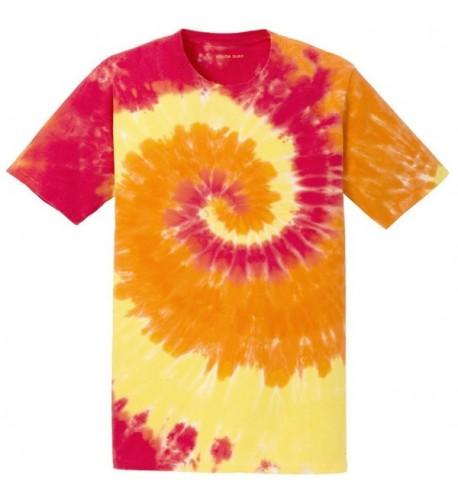 colorful Tie Dye T Shirt 2XL Blaze Rainbow