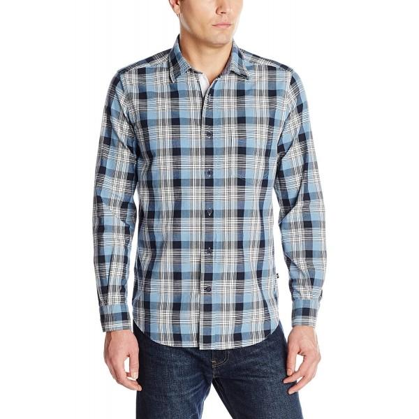 Nautica Drift Plaid Chambray Shirt