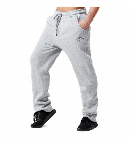 KingPlus Fleece Bottom Sweatpants Lightgray