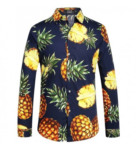 SSLR Pineapple Button Hawaiian Casual