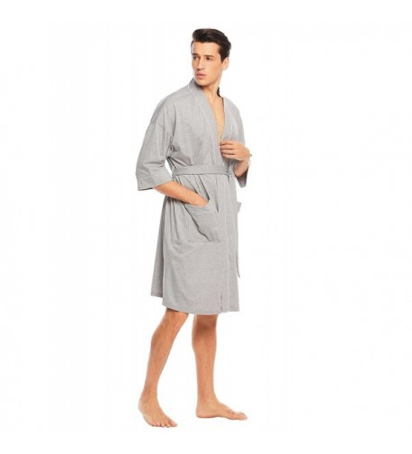 Aimado Bathrobe Lightweight Loungewear Charcoal