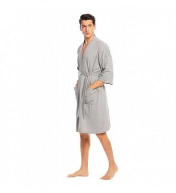 157ba01529 Available. Aimado Bathrobe Lightweight Loungewear Charcoal  Discount Real Men s  Bathrobes Wholesale ...