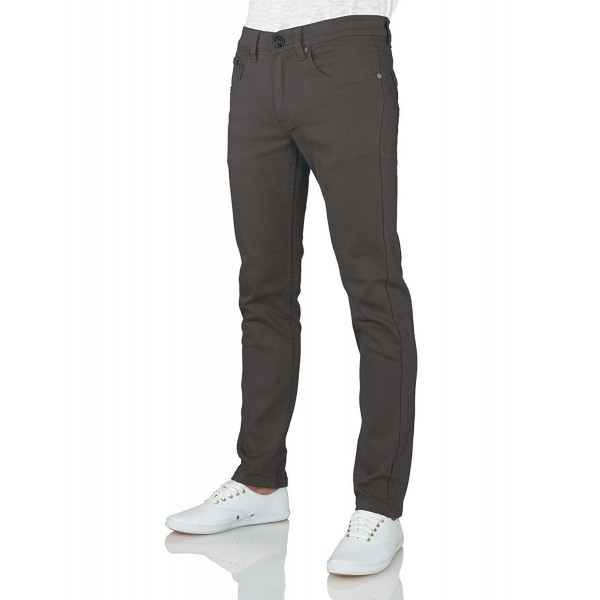 Mens Color Skinny Jeans Charcoal