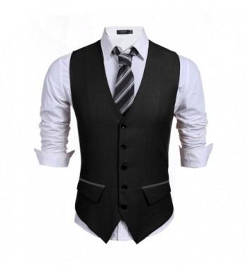 Coofandy Casual Skinny Wedding Waistcoat