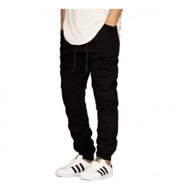 Victorious Black Twill Crotch Jogger