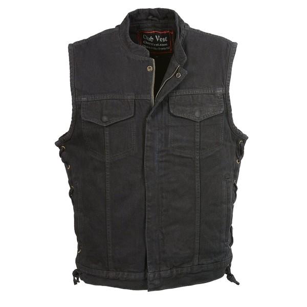 Club Vest Denim Hidden Zipper