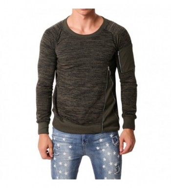 MODCHOK Sleeve Sweatshirts Crewneck Sweater