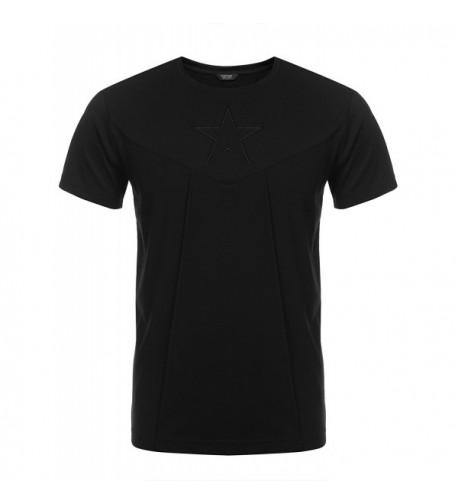 COOFANDY Fashion Sleeve Patchwork T Shirt