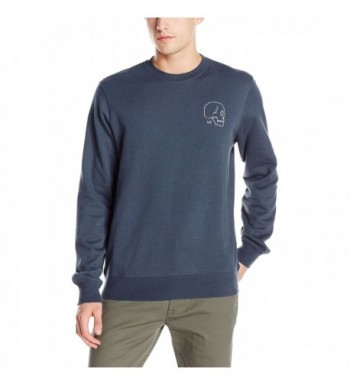 RVCA Skull Embroidered Sweatshirt Midnight