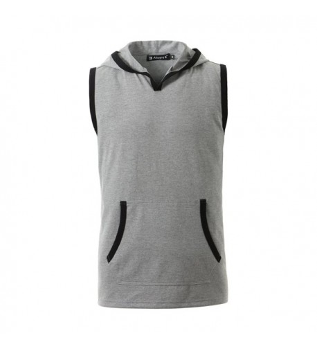Allegra Sleeveless Kangaroo Pocket Hooded