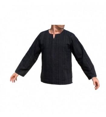 RaanPahMuang Striped Cotton Collar X Large