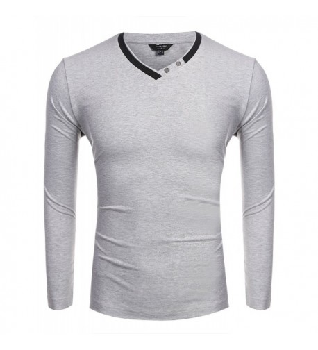 Coofandy Casual Sleeve Solid Pullover