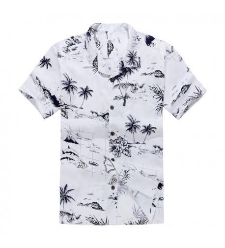 Mens Hawaiian Shirt Aloha White