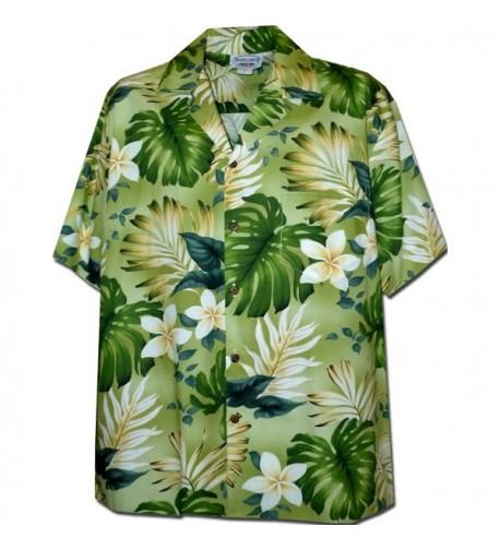 Tropical Monstera Hawaiian Shirt Green