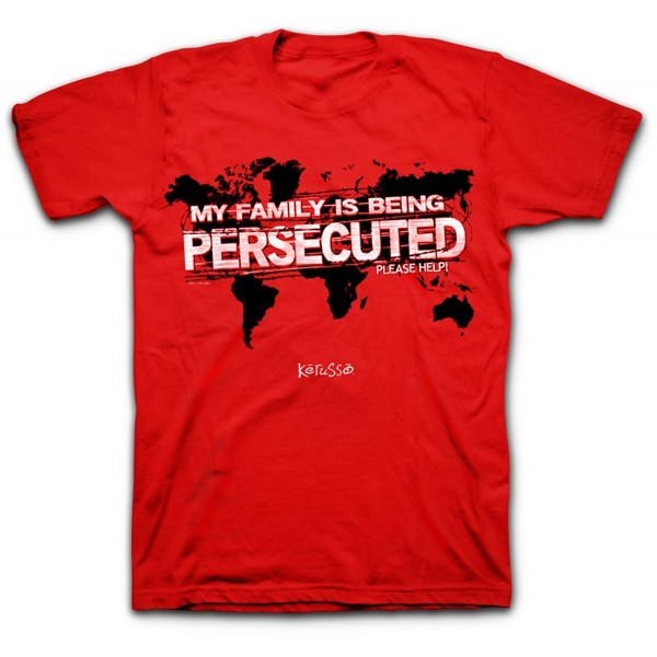 Persecuted Church Tee Red Christian