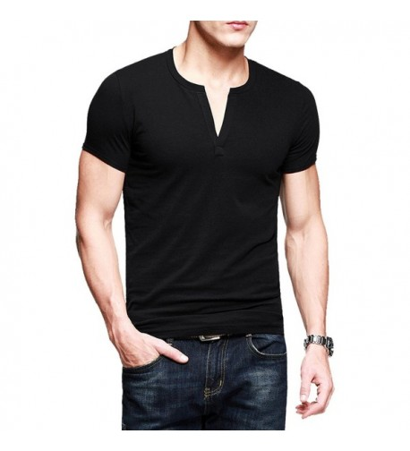T Shirts Fitted Basic Sleeve Cotton