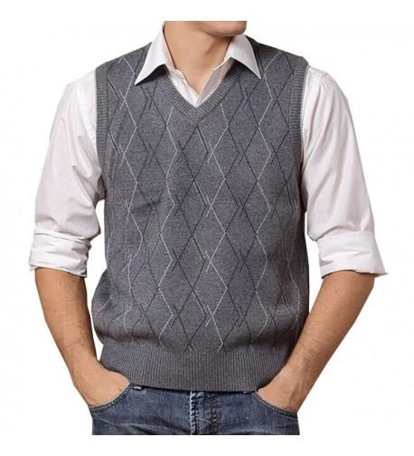 Lisianthuas Argyle V Neck Sweater Color