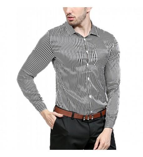 Zuckerfan Fashion Vertical Stripes Casual