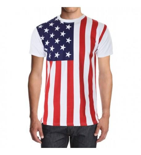American Flag Solid Shirt Small