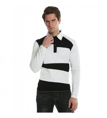 Coofandy Stripe Casual Contrast Sleeve