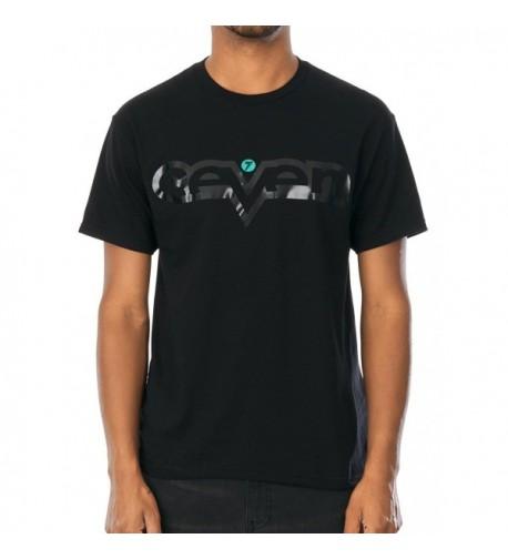 Seven MX 732253 Black Black Brand T Shirt Black M
