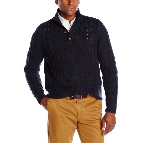 Haggar Fisherman Quarter Sweater X Large