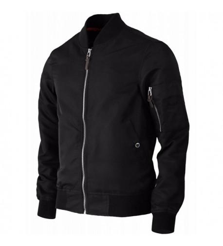 BCPOLO Lightweight Windbreaker Jackets Black XS