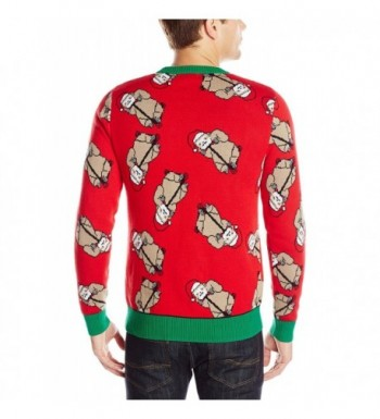 Sloth Ugly Christmas Sweater.Men S Sloth Bonanza Ugly Christmas Sweater Red Ca122zlqm19