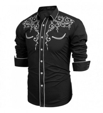 1830cd2da2d7 COOFANDY Sleeve Embroidery Casual Button  2018 New Men s Casual Button-Down  Shirts ...