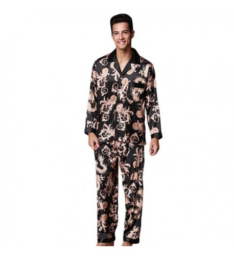 ZUEVI Classic Chinese Pajamas Dragon XL M