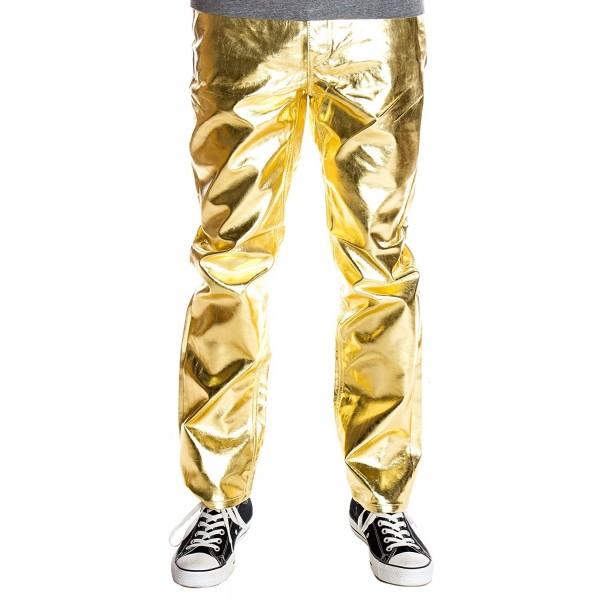 Ragstock Metallic Shiny Jeans Gold 34