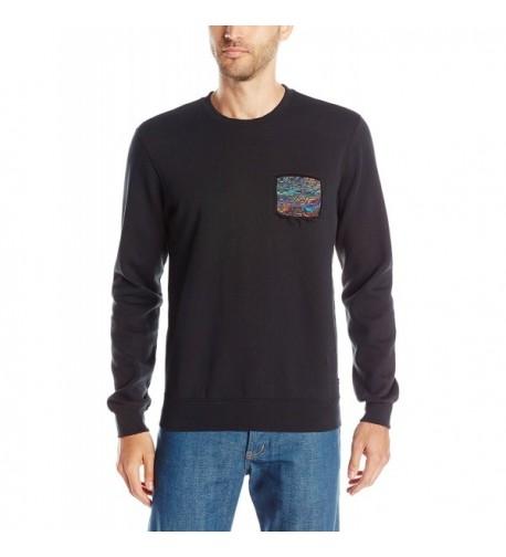 RVCA Mens Blur Sweatshirt Black