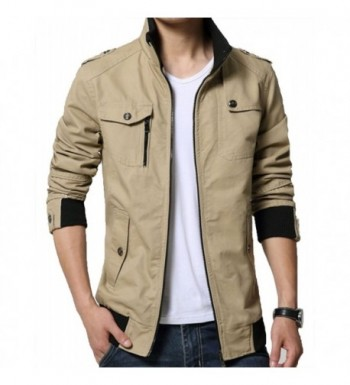 XueYin Cotton Casual Collar Jacket