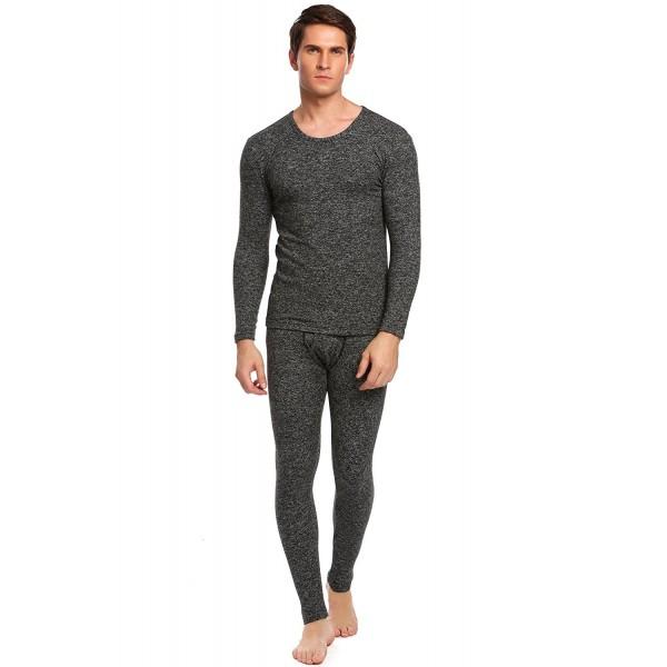 7fb15094b326 ... Men's Long Thermal Top and Underwear Fleece Lined Winter Base Layering  Set - Dark Grey - CF12O427T05. Ekouaer Thermal Underwear Bottom XX Large
