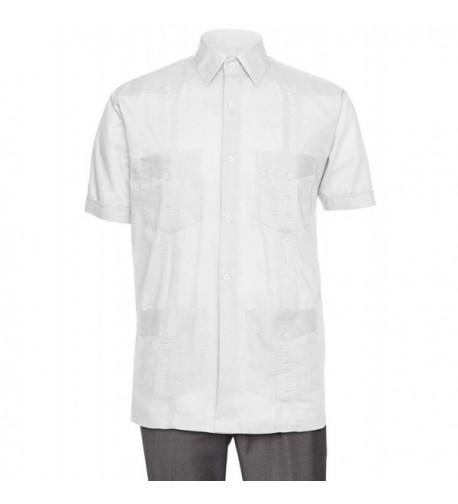 Gentlemens Collection Sleeve Guayabera X Large