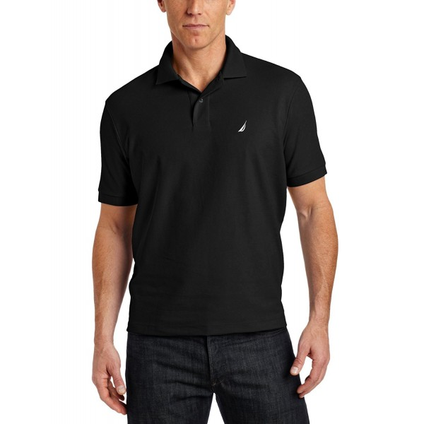 Nautica Mens Solid Shirt Black