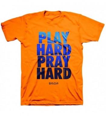 Play Hard T Shirt Safety orange
