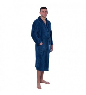 Mens Plush Fleece Bathrobe MENPR01