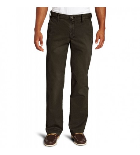 Haggar Khaki Washed Straight Chocolate