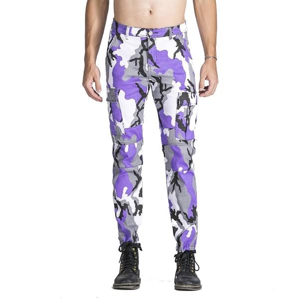 Idopy Street Camouflage Joggers Stretchy