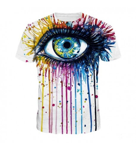 NEWCOSPLAY colorful Printed T Shirt Fashion